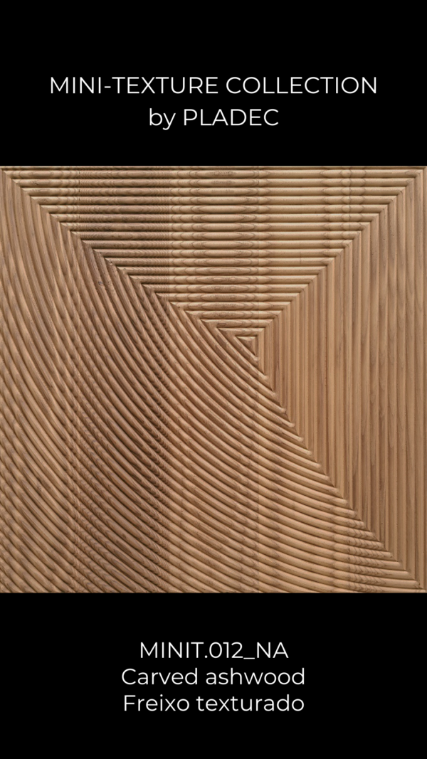 A carved wood pattern with a simple concept. Inspired by the natural spider web texture, this panel reminds us of a small web that corners itself at the center of the panel, creating a mesmerizing allusion to one of the most complex and beautiful living beings .