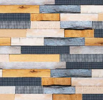 wood and fabrics