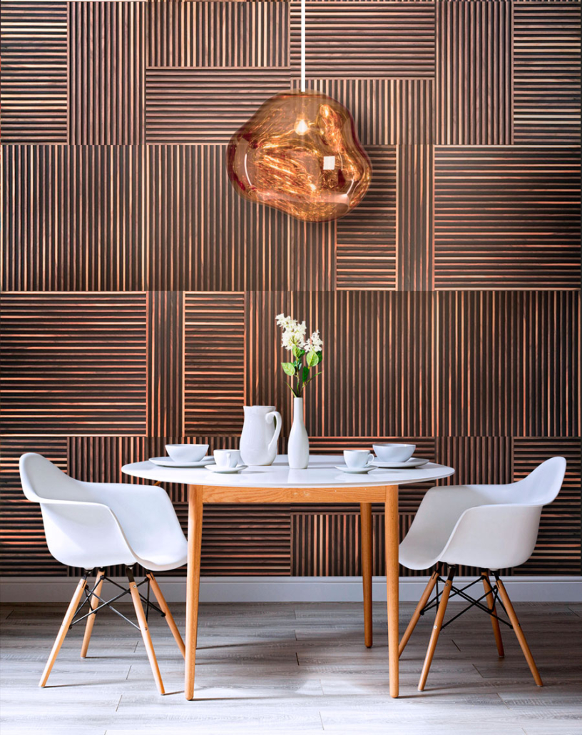 decorative slat wood panel design
