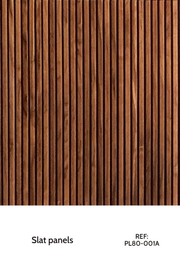 decorative slat wood panel design