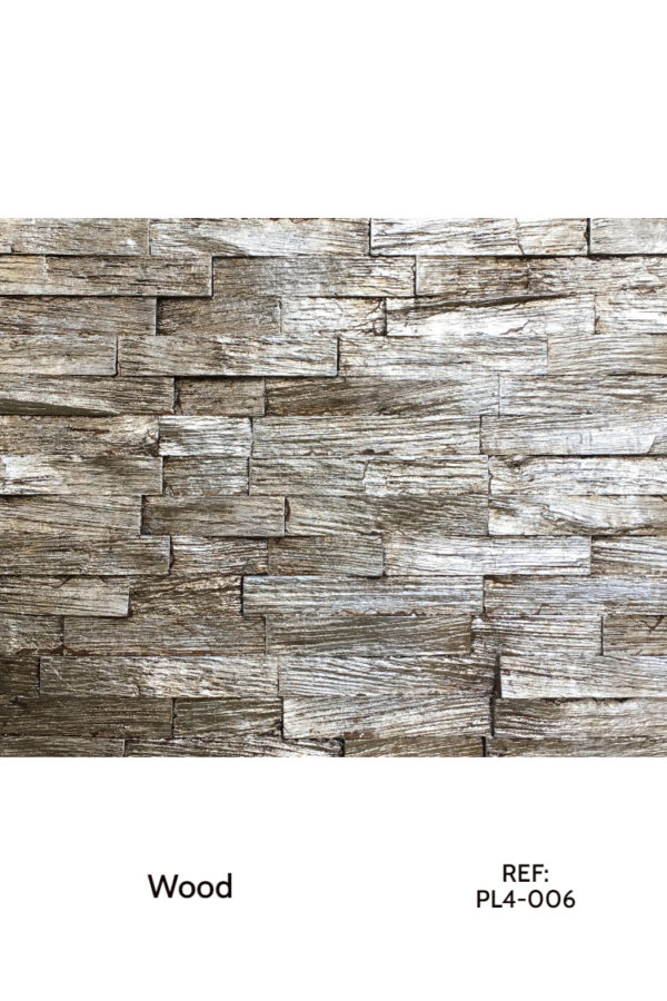 An accent wall made from treated wood for a different tonality. A solution for architectural interior cladding.