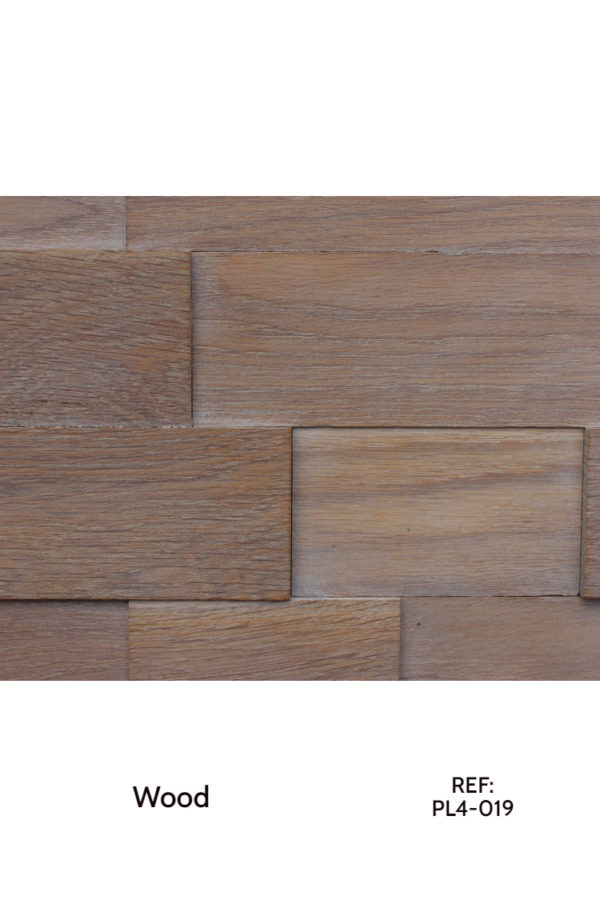 Wood planks, re-arranged on a MDF board for a great accent wall or other sorts of interior cladding.