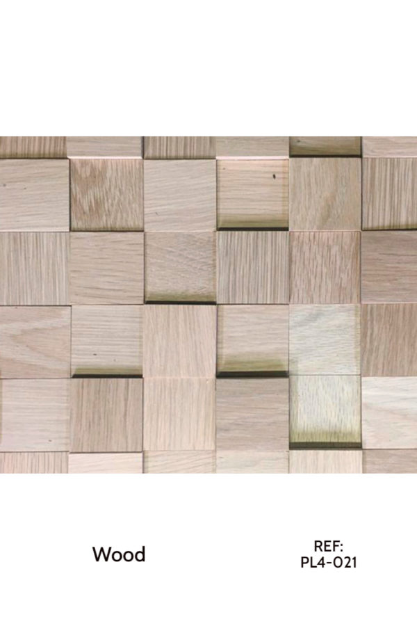 A panel made from raw wood cubes with different heights. A great solution for acoustic diffusers. REF: PL4-021