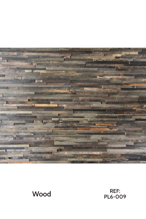 Wood accent wall panel made from old wine barrels, mixed with different wood. A reclaimed, beautiful solution for ecological decorative purposes.