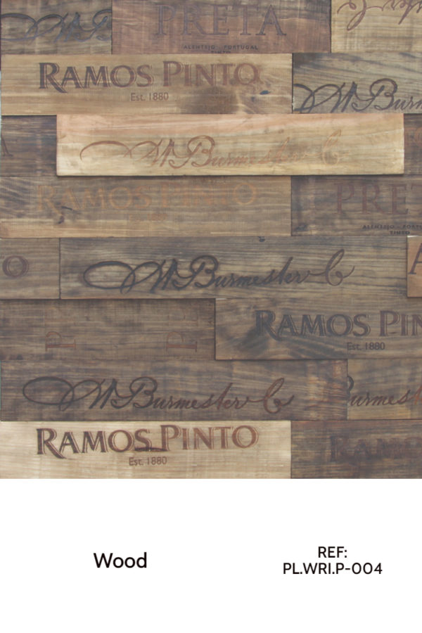 A natural wood accent design, made by simple wood planks with a laser engraved theme. The theme is customizable, and we can create different engravings for each.