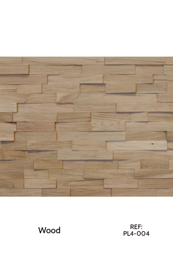 Natural wood strips for architectural interior decoration.