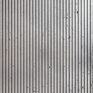 A textured MDF panel with simple lines. Painted with a chrome silver and silver leaf.