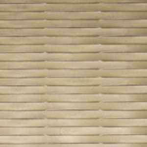 A textured MDF panel with a gold-like tonality and a wavy surface.