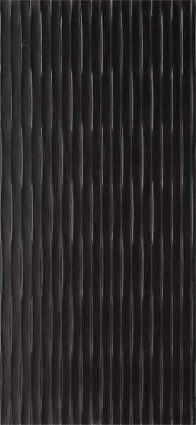 Black carved MDF panel with a wavy texture.