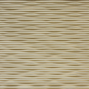 carved wood panels, made from mdf and painted woods. the texture on the top is wavy, with counterbalancing waves.