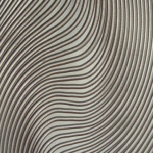 A panel with a gray tonality, with visible wavy lines