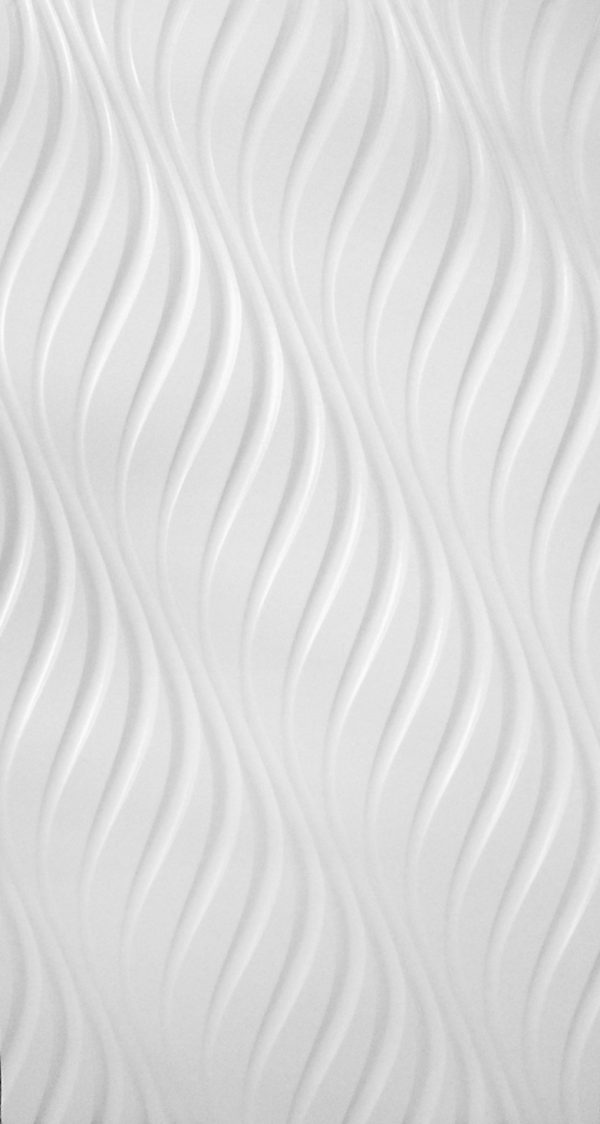 White painted MDF panel with a wavy texture.