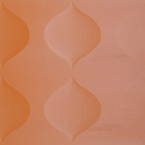 An orange carved MDF panel with a simple texture.