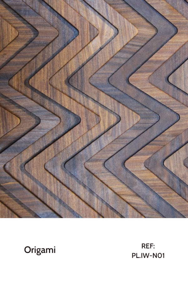 The PL.IW-N01 is a zig-zag design that makes the perfect use of iron wood and its different tonalities. The panel is composed by pieces with different heights, further enhancing the shadows and contrasts between pieces. A decorative wood panel design for application on walls.