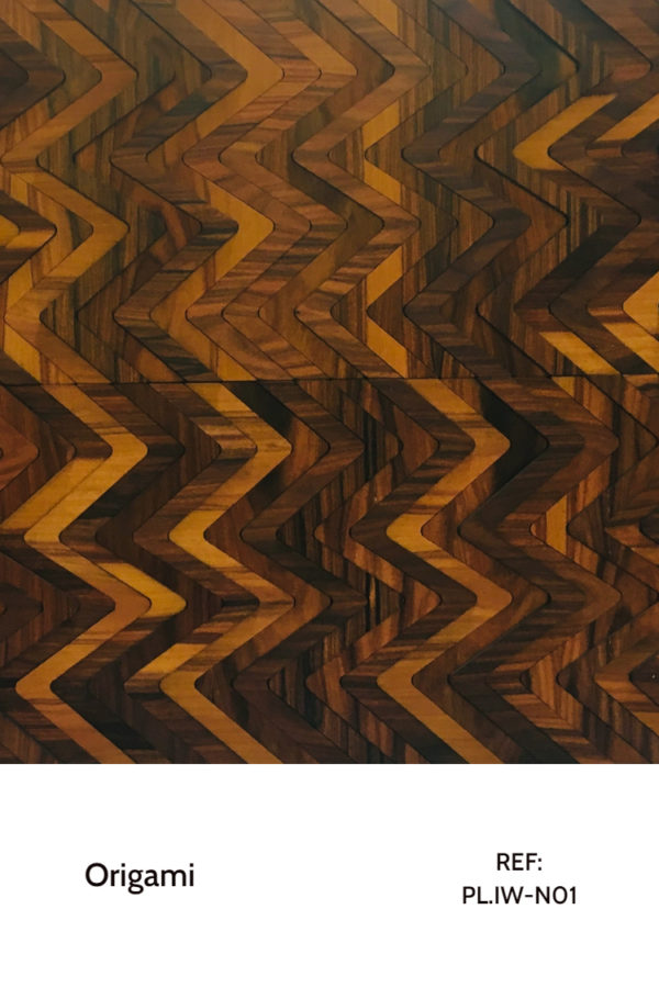 The PL.IW-N01 is a seamless design that plays with natural ironwood tonalities, further enhanced by different heights and a strong varnish. A decorative wood panel design for aplication on walls.