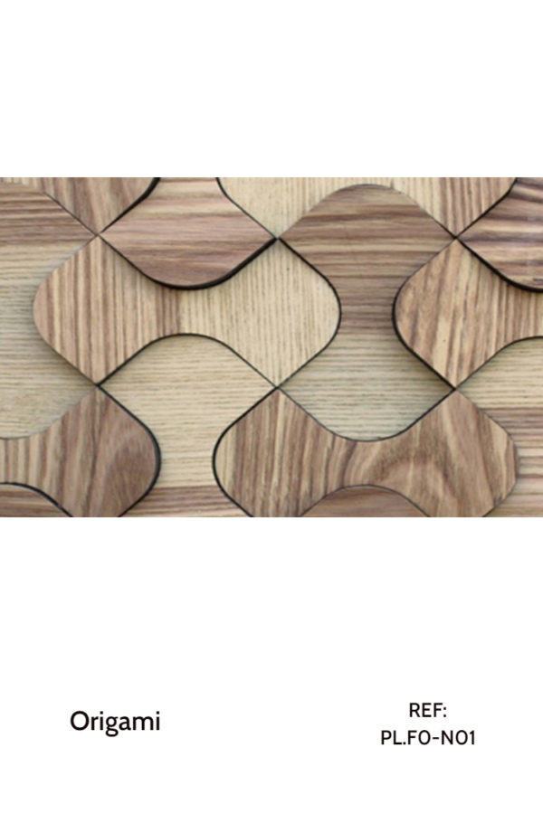 The PL.F0-N01 is a design that uses perfectly curved shapes with a seamless design to create calming and smooth interior elements. A decorative wood panel design for application on walls, with custom-made fabrication.