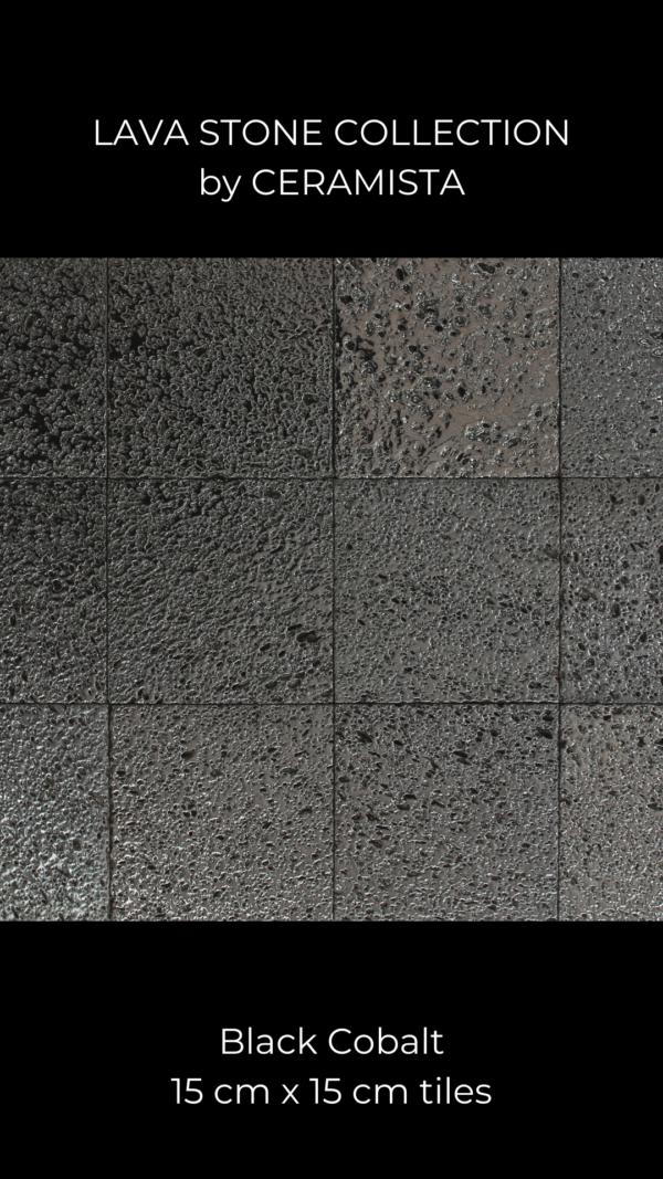 Black Cobalt Lava Stone