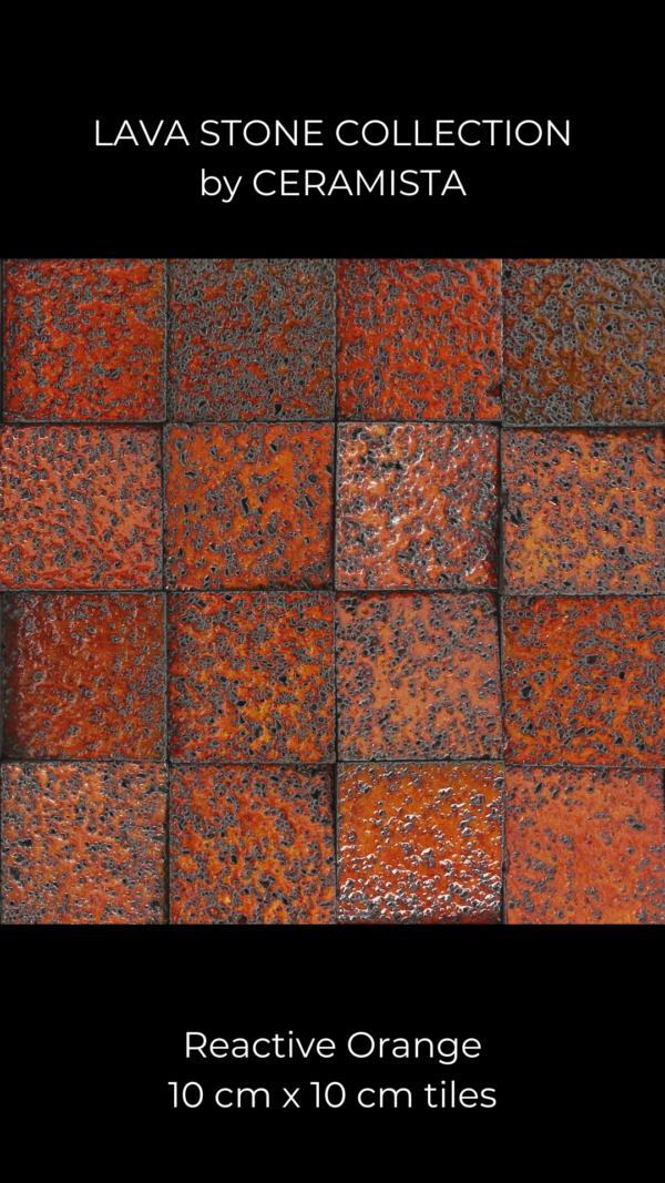 Reactive Orange Lava Stone