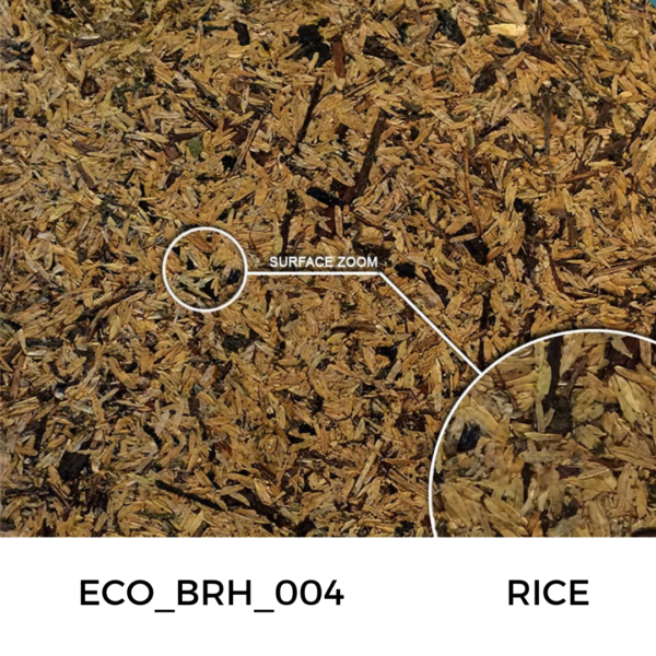 Recycled panels - A texture/board made from rice plant shavings