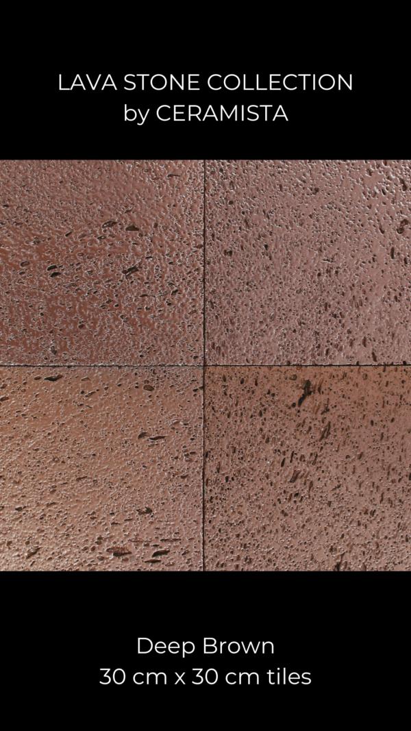 Deep Brown Lava Stone