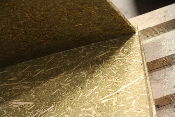 Recycled panels - Eucalyptus boards with fiber shavings