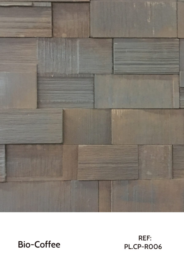 Recycled panels - A design that uses small blocks, rearranged on a board for decorative purposes.