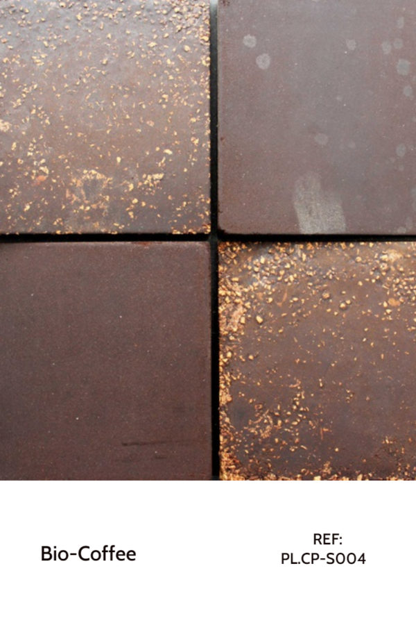 Recycled panels - A small coffee and cork surface that reuses wastes from both materials.