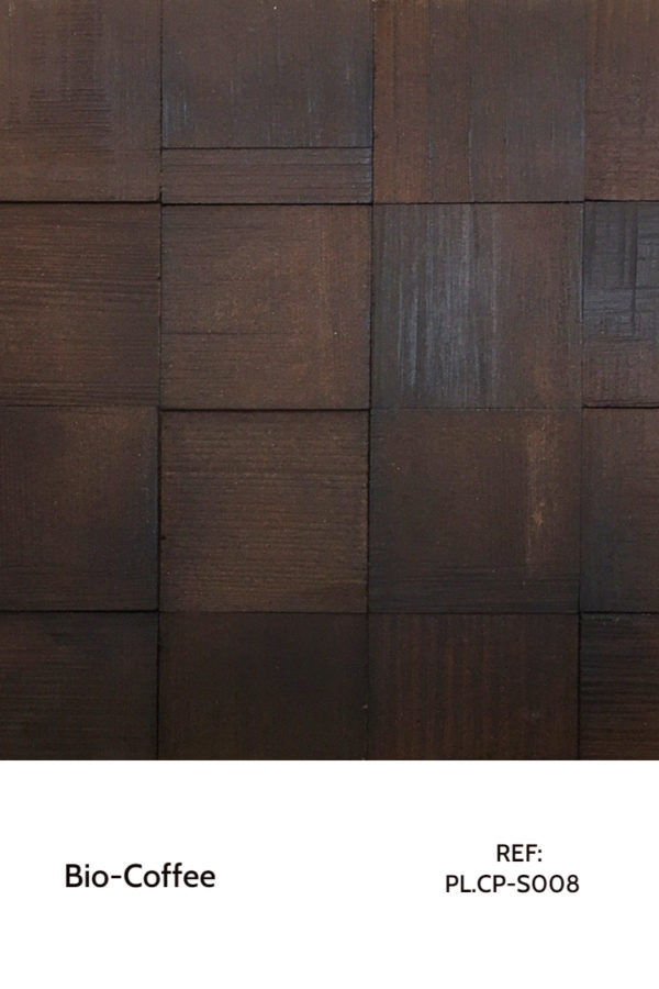 Recycled panels - A surface made purely from coffee grounds.