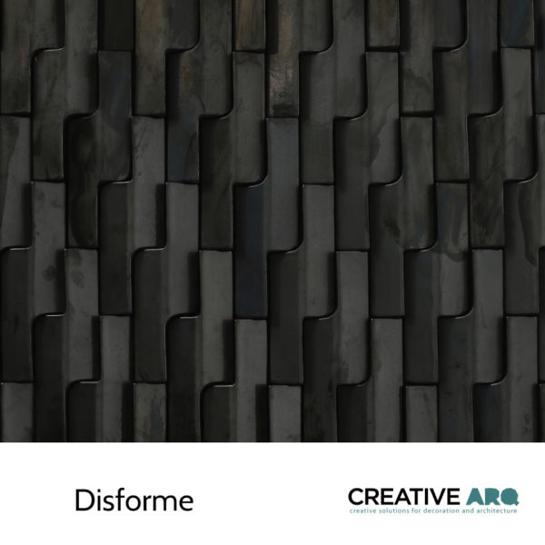Disforme- a ceramic wall tile with a great balance between tiles that creates subtle and interesting environments. Disforme - um azulejo tridimensional que cria ambientes interessantes e subtis através do seu balanço.