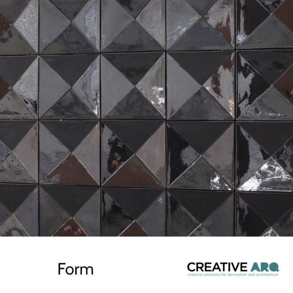 A 3d wall tile design that works for backsplashes and feature walls. Um design em cerâmica para aplicação em paredes, criando paredes cerâmicas incríveis. Azulejos interessantes, tridimensionais