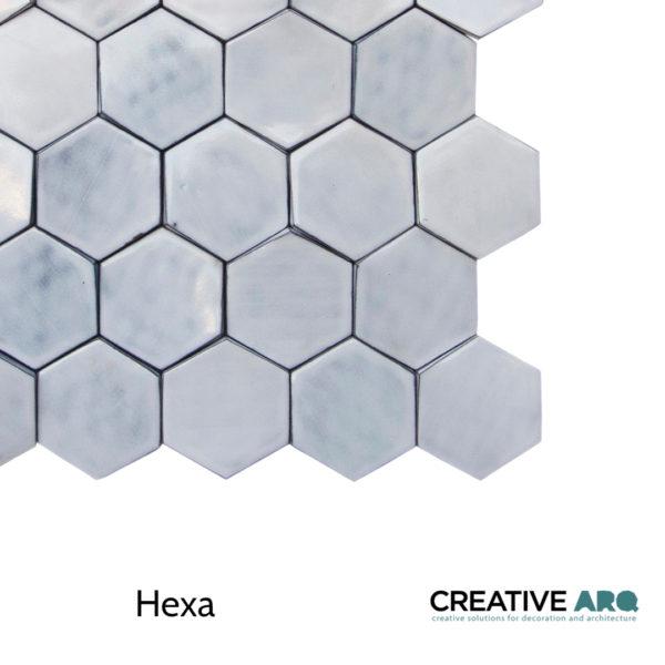 HEXA - A 3D wall tile design with colorful features and partially handmade in Portugal. Um azulejo tridimensional e feito parcialmente à mão em Portugal.