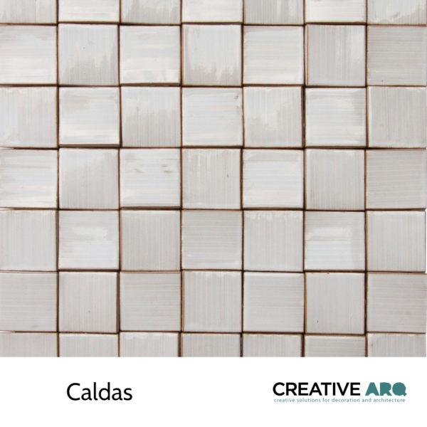 Caldas 3d wall tile - a slightly tilted ceramic tile. Caldas- um azulejo com uma ligeira inclinação e um vidrado que confere carácter. Para aplicação em paredes.