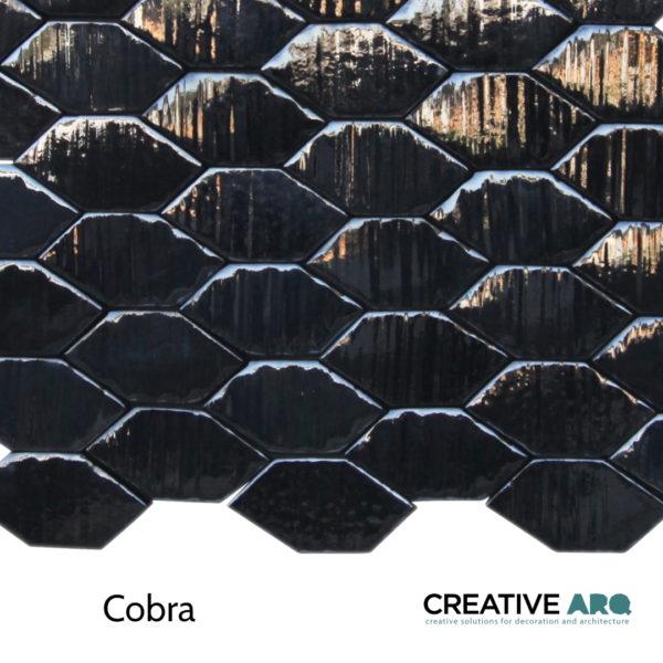 Cobra 3d wall tile - a ceramic tile that resembles a snake's skin. Cobra- um azulejo de cerâmica que relembra os padrões das escamas das cobras.