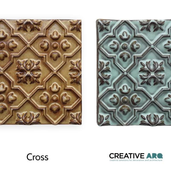 CROSS 3d wall tile- a tile found in an old church, recreated for the 21st century. Cross - um azulejo com inspiração em padrões encontrados em igrejas antigas de Portugal.