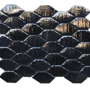 The Cobra tile, a ceramic design inspired by snake scales.