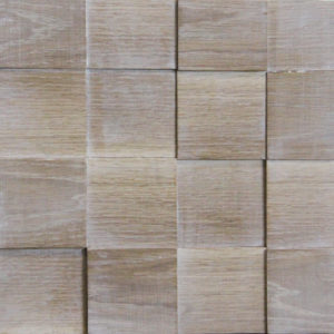 A wood squares surface, with a patina covering. This panel is composed of individual wood squares, each of one with different characteristics