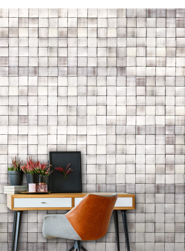 A Caldas ceramic tile project, with the tiles on the background